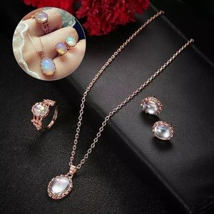 18k Gold Filled Moon Stone Jewelry Set